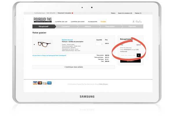 lunettes en ligne, clip solaire
